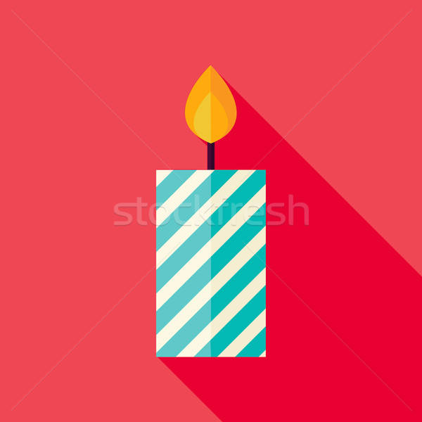 向量 設計 裝飾的 蠟燭 圖標 長 商業照片 © Anna_leni