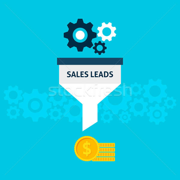 Sales Leads Flat Concept Stock photo © Anna_leni