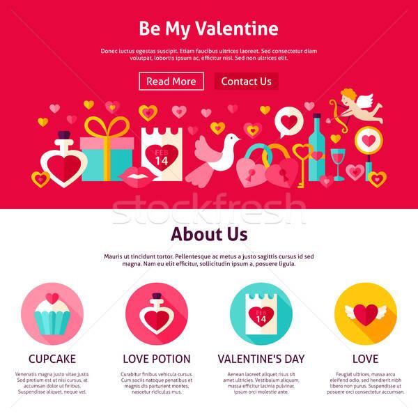 Be My Valentine Web Design Stock photo © Anna_leni