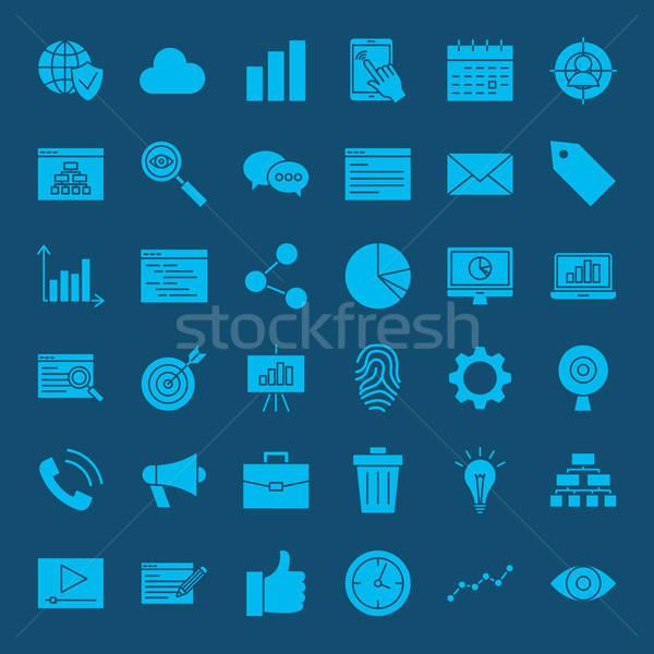 Stock photo: Development Web Glyphs Icons