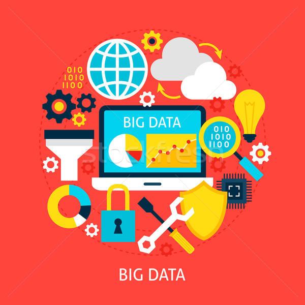 Сток-фото: большой · данные · плакат · дизайна · набор · бизнеса