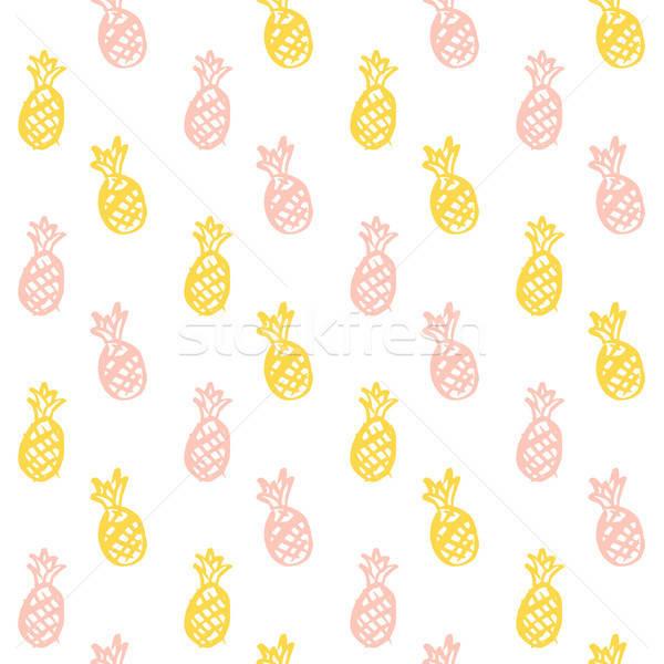 Escove ananás pintar fruto Foto stock © Anna_leni