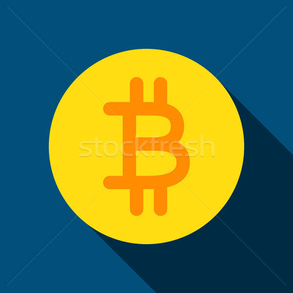 Bit Coin Flat Icon Stock photo © Anna_leni