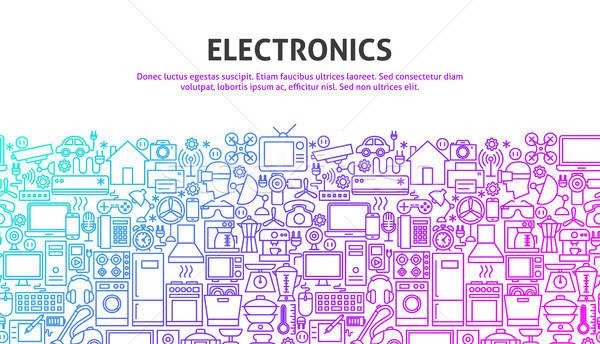 Electronics Web Concept Stock photo © Anna_leni