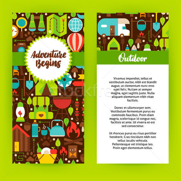 Adventure Begins Flyer Template Stock photo © Anna_leni