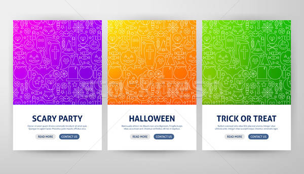 Halloween Flyer Concepts Stock photo © Anna_leni