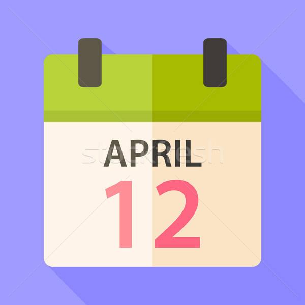 Pasen kalender datum 12 gestileerde illustratie Stockfoto © Anna_leni
