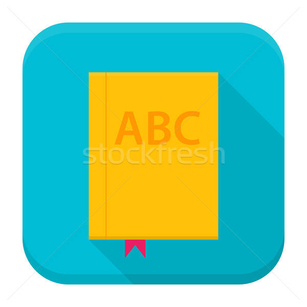 Book app icon with long shadow Stock photo © Anna_leni