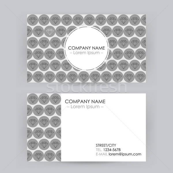 Tarjeta de visita línea arte diamantes empresarial identidad Foto stock © Anna_leni