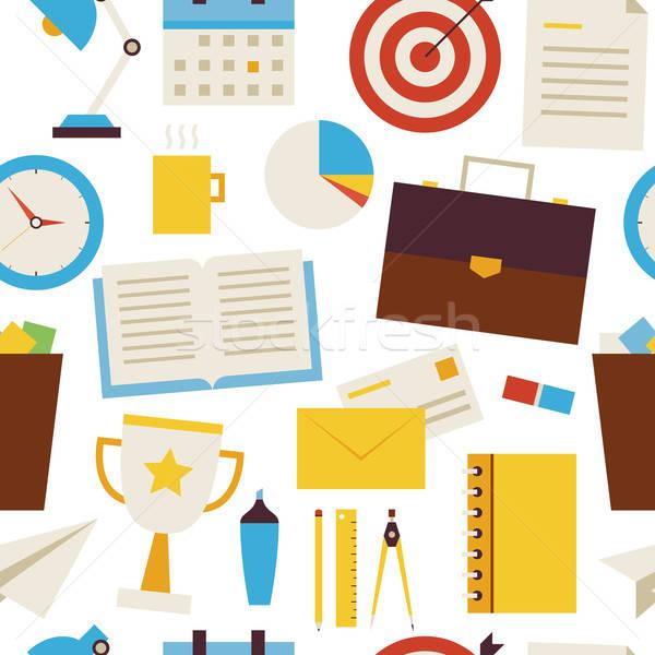 Photo stock: Affaires · bureau · objets · blanche · style