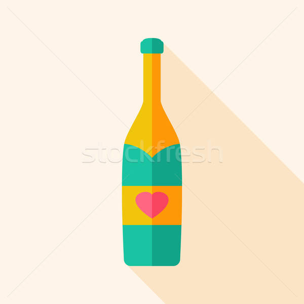 Alcohol bottle with heart Stock photo © Anna_leni