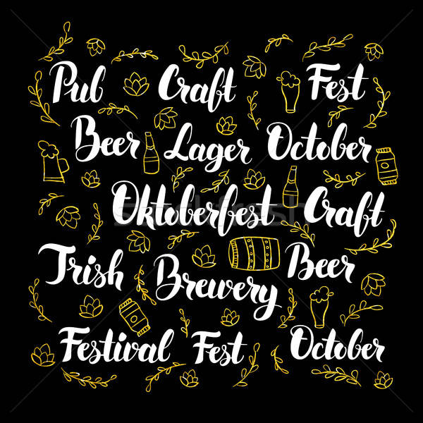 Oktoberfest Calligraphy Design Stock photo © Anna_leni