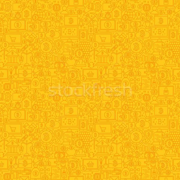 Sarı hat bitcoin karo Stok fotoğraf © Anna_leni