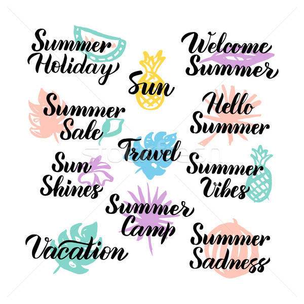 Summer Hand Drawn Quotes Stock photo © Anna_leni