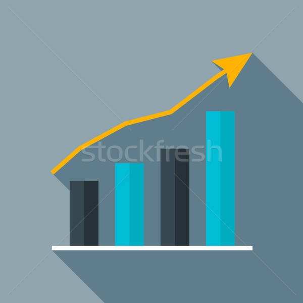 Statistisch diagram gestileerde object lang Stockfoto © Anna_leni