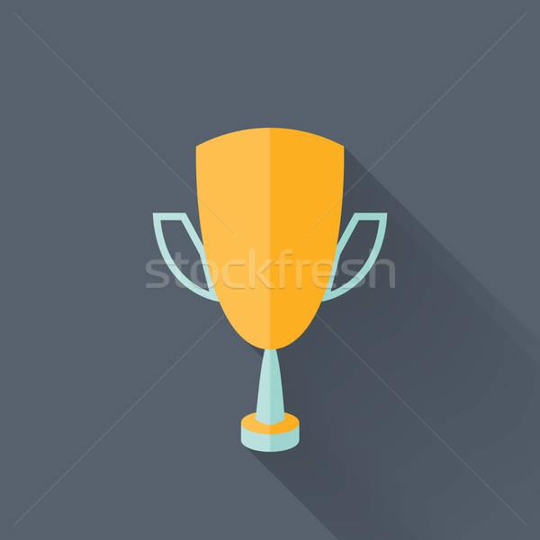 желтый Кубок икона спорт трофей празднования Сток-фото © Anna_leni