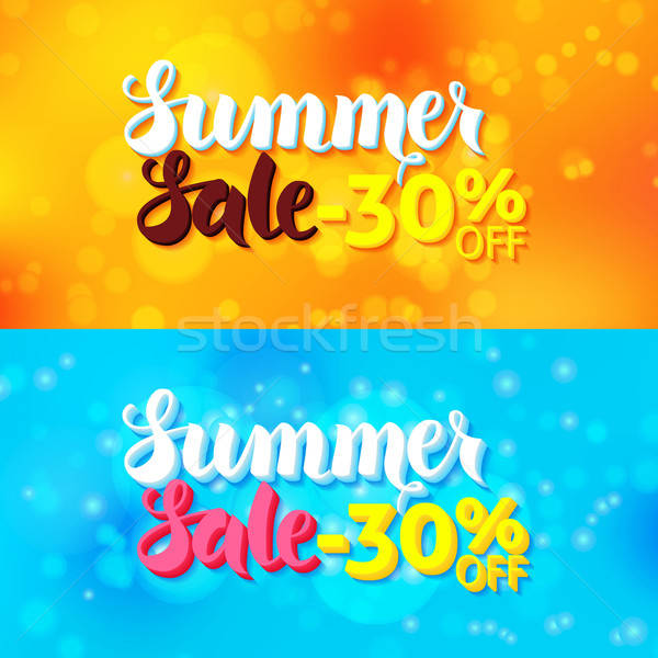 Summer Sale Web Banners Abstract Blur Stock photo © Anna_leni