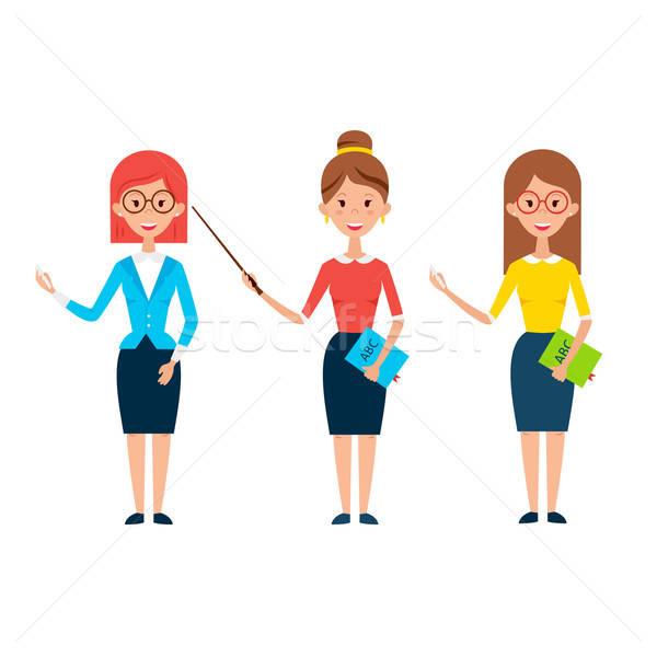 Three Women Teacher Characters Stock photo © Anna_leni