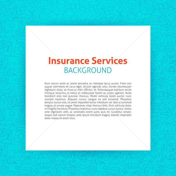 Stock photo: Paper Template Insurance Line Background