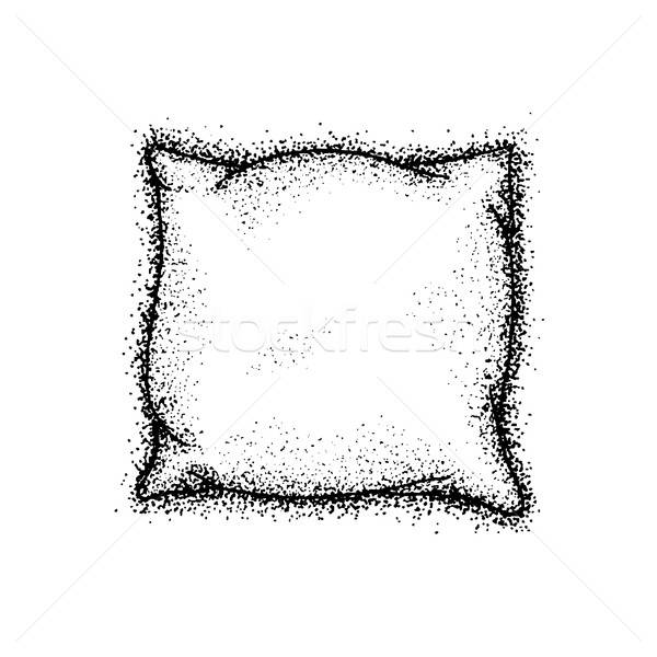 Dotwork Bed Pillow Stock photo © Anna_leni