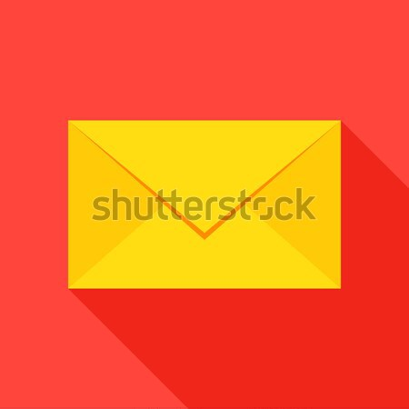 почты конверт икона стиль пункт долго Сток-фото © Anna_leni