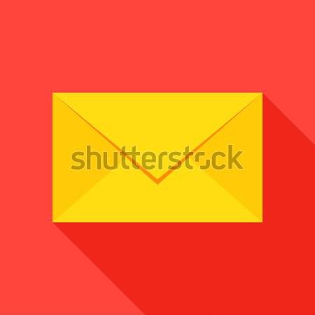 Mail envelop icon stijl item lang Stockfoto © Anna_leni