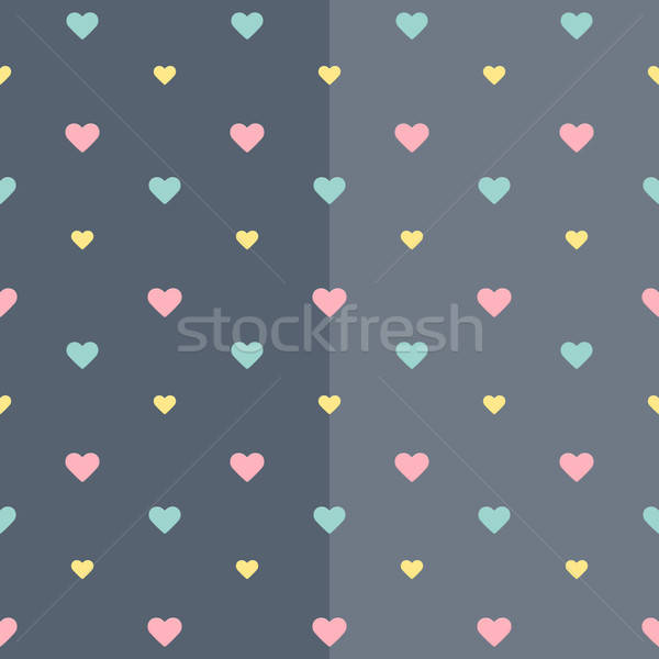 Seamless colorful heart blue pattern Stock photo © Anna_leni