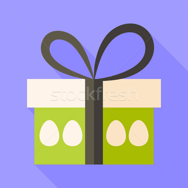 Easter present box with eggs Stock photo © Anna_leni