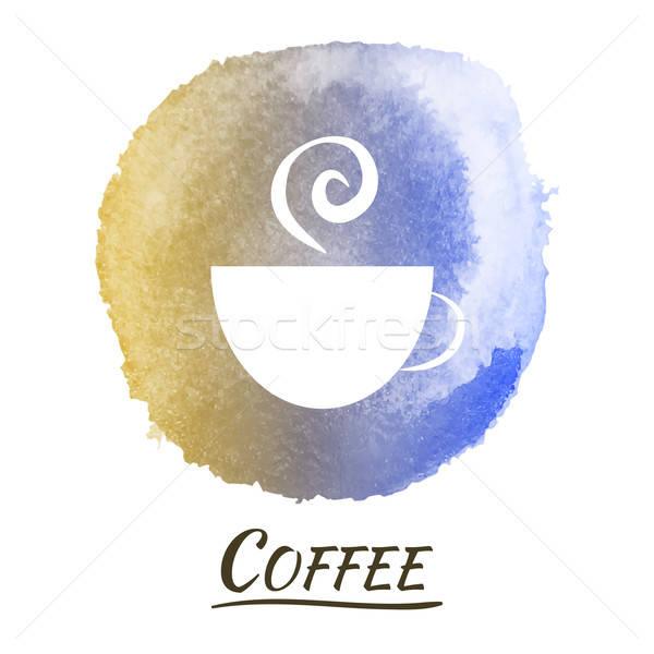 ドリンク コーヒー ベクトル 水彩画 カップ 煙 ストックフォト © Anna_leni