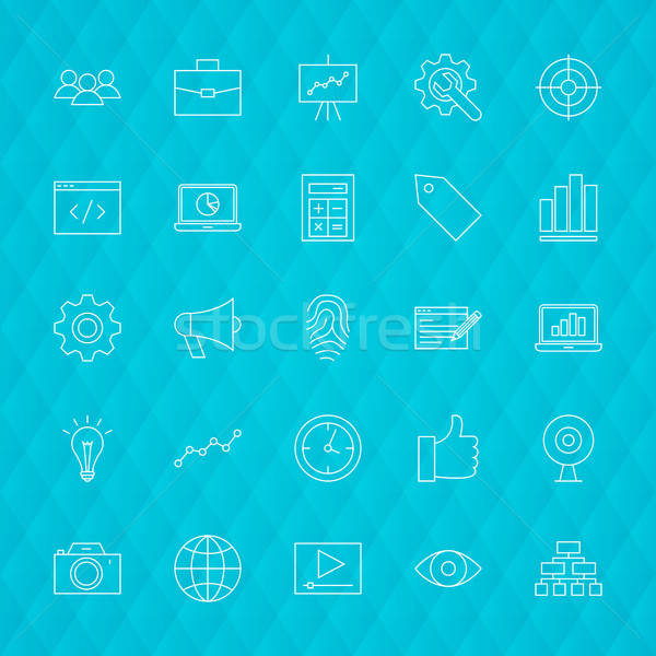 Web Development Line Icons Stock photo © Anna_leni