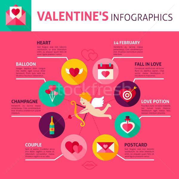 Stock photo: Valentines Day Concept Infographics