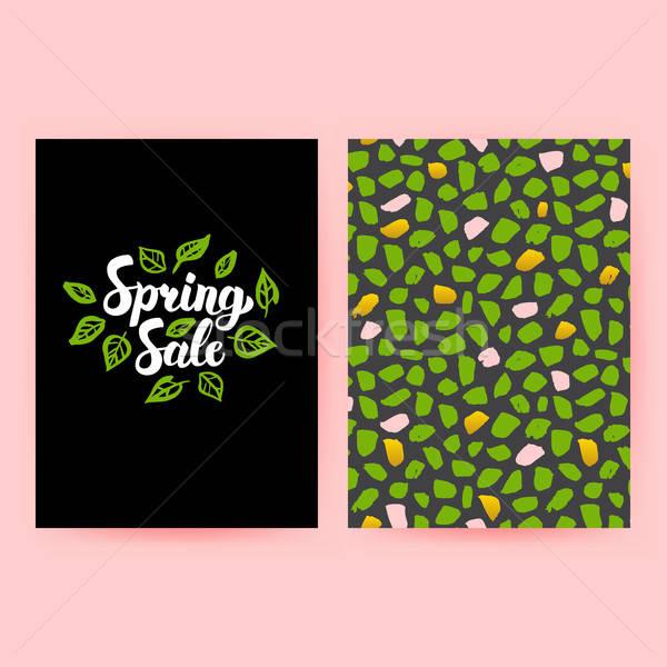 Tavasz vásár trendi poszter minta terv Stock fotó © Anna_leni