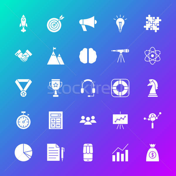 Startup Solid Icons Stock photo © Anna_leni