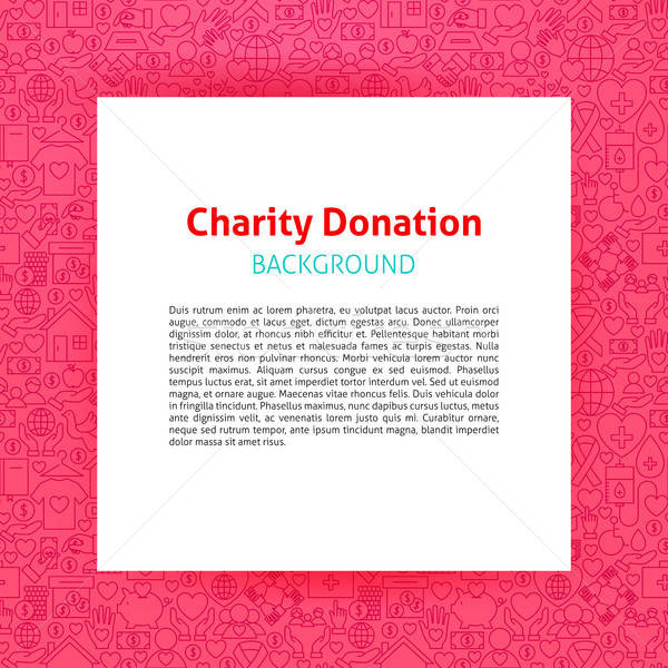 Charity Donation Paper Template Stock photo © Anna_leni