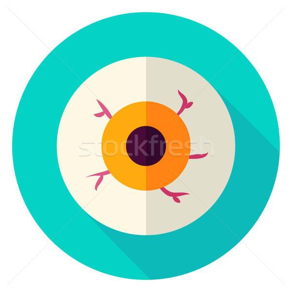 Stock photo: Spooky Eye Circle Icon
