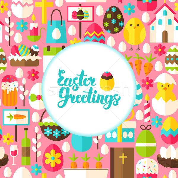 Pasqua cartolina primavera vacanze poster Foto d'archivio © Anna_leni