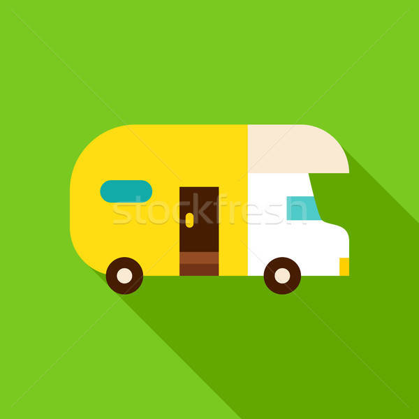 Camping Trailer Object Icon Stock photo © Anna_leni