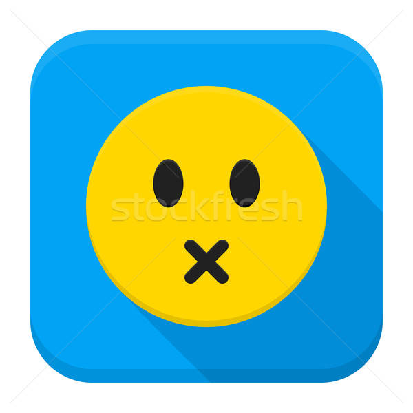 Silent Yellow Smiley App Icon Stock photo © Anna_leni