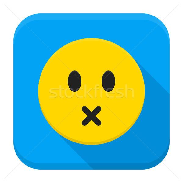 Stil Geel app icon stijl Stockfoto © Anna_leni