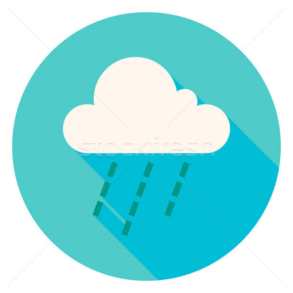 Weer wolk regen cirkel icon ontwerp Stockfoto © Anna_leni