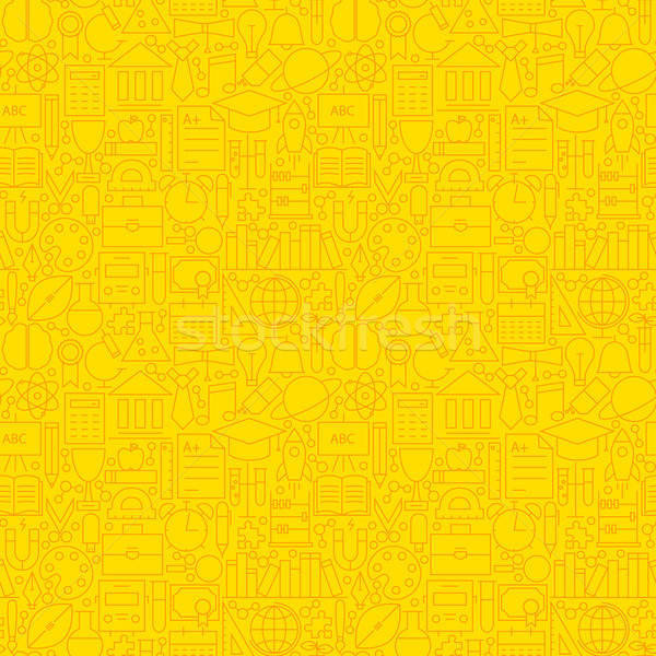 Stock photo: Line Learning Yellow Tile Pattern
