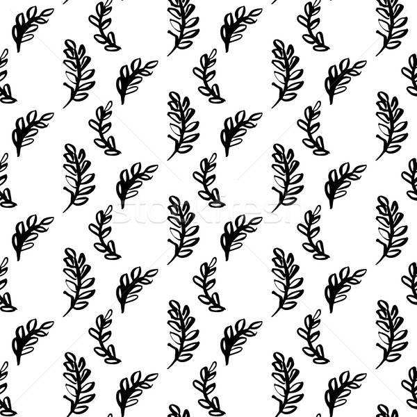 Natural Plants Brush Seamless Pattern Stock photo © Anna_leni