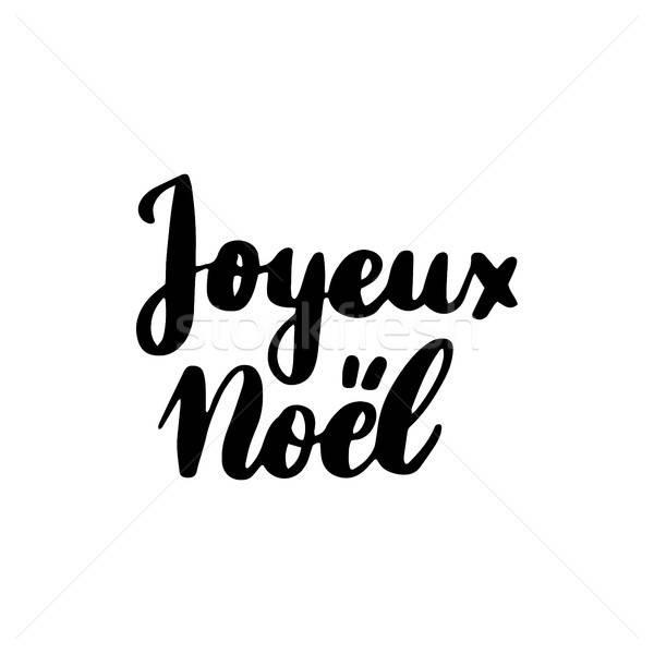 Joyeux Noel Lettering Stock photo © Anna_leni