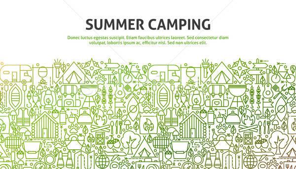 Summer Camping Concept Stock photo © Anna_leni