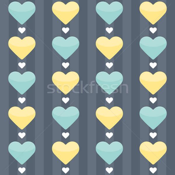 De amarelo corações azul festa Foto stock © Anna_leni