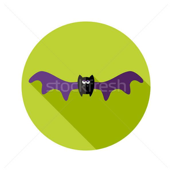Halloween bat icona grande ali Foto d'archivio © Anna_leni