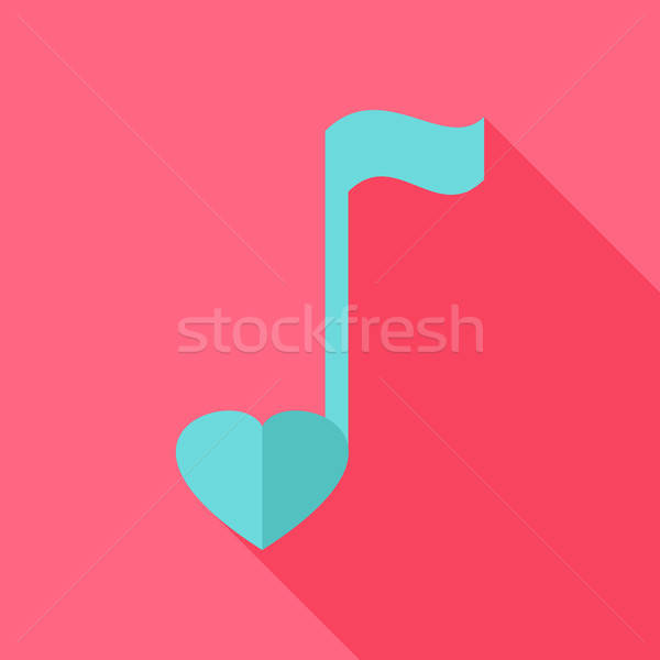 Sheet music with heart Stock photo © Anna_leni