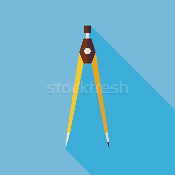 Ufficio misurazione strumento illustrazione lungo Foto d'archivio © Anna_leni