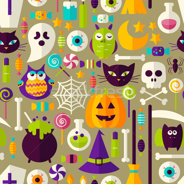 Halloween Seamless Background Stock photo © Anna_leni