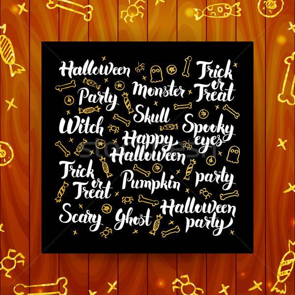 Хэллоуин приветствие каллиграфия праздник современных Сток-фото © Anna_leni